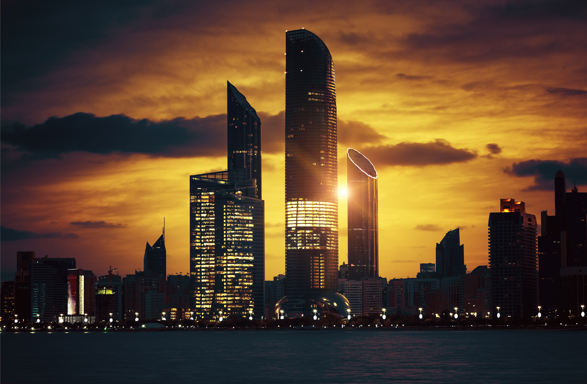 Abu Dhabi Sunset Skyline