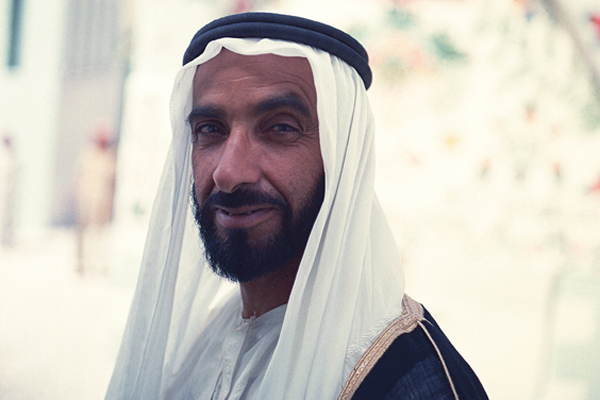 His Highness Sheikh Zayed bin Sultan Al Nahyan