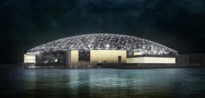 Louvre Abu Dhabi at Night
