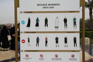 Mosque Dress Code Board