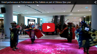 Chinese New year celebrations at The Galleria mall, Maryah Island