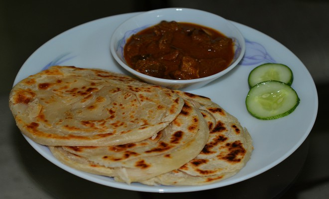 Kerala Parotta a South Indian dish