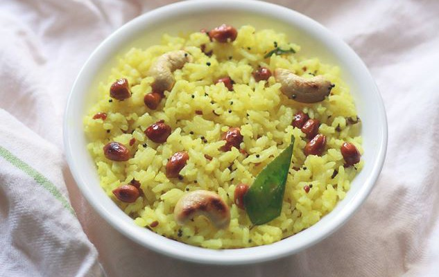 Lemon Rice a South Indian Dish