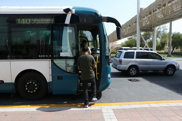 People using public buses in Abu Dhabi will have to use smart card from May 15 to pay for the journey. Fatima Al Marzooqi / The National