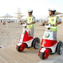 Tourism police patrol the Corniche in Abu Dhabi. Officers have had a busy time in the past two years. Courtesy Security Media