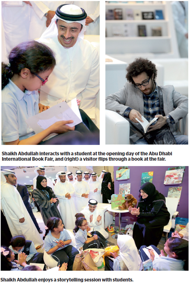 Abu Dhabi — The 25th Abu Dhabi International Book Fair (ADIBF) was officially inaugurated on Thursday morning by Shaikh Abdullah bin Zayed Al Nahyan, Minister of Foreign Affairs and chairman of the National Media Council