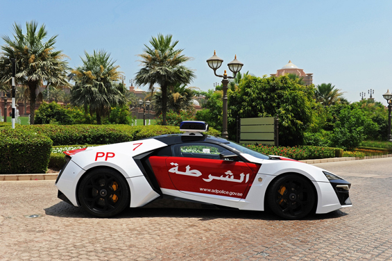 Abu Dhabi Police plan to soon exhibit the stunning car, produced by the Lebanese-based company W Motors, which is Arabic in spirit, at various tourist locations