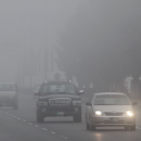 Fog engulfs Dubai-Abu Dhabi highway,Humidity levels will continue to sustain highs of 90 per cent around the coastal areas
