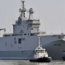A Mistral warship on its way for its first sea trials near Saint-Nazaire, northwestern France, in March. Egypt's purchase of two Mistral warships would boost its efforts to fight militancy in the Sinai Peninsula.