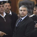 """""""The trial of Al-Jazeera's journalists, which also seems to be a political trial of Al-Jazeera itself, is symptomatic of the state of freedom of information today in Egypt,"""" Secretary-General Christophe Deloire said in a statement."""