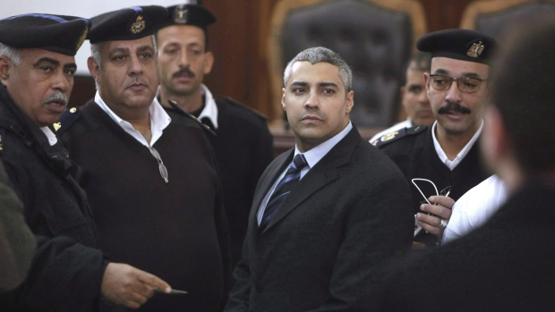 """The trial of Al-Jazeera's journalists, which also seems to be a political trial of Al-Jazeera itself, is symptomatic of the state of freedom of information today in Egypt,"" Secretary-General Christophe Deloire said in a statement."