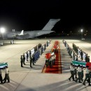 Bodies of fallen Emirati martyrs arrive in Abu Dhabi