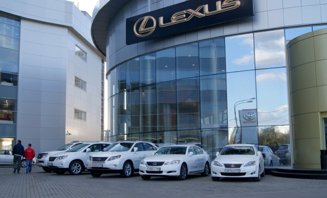 Lexus car Showroom in Abu Dhabi