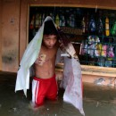 Floodwaters rise as Typhoon Koppu drenches Philippines