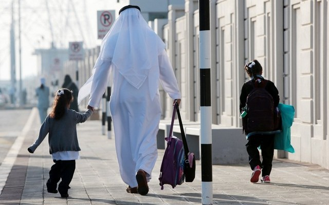 Heavy Traffic in Abu Dhabi As Students Return to School