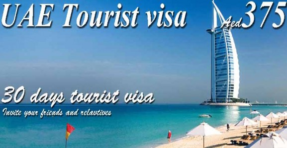 30 Days Tourist Visa With and Without Deposit to UAE