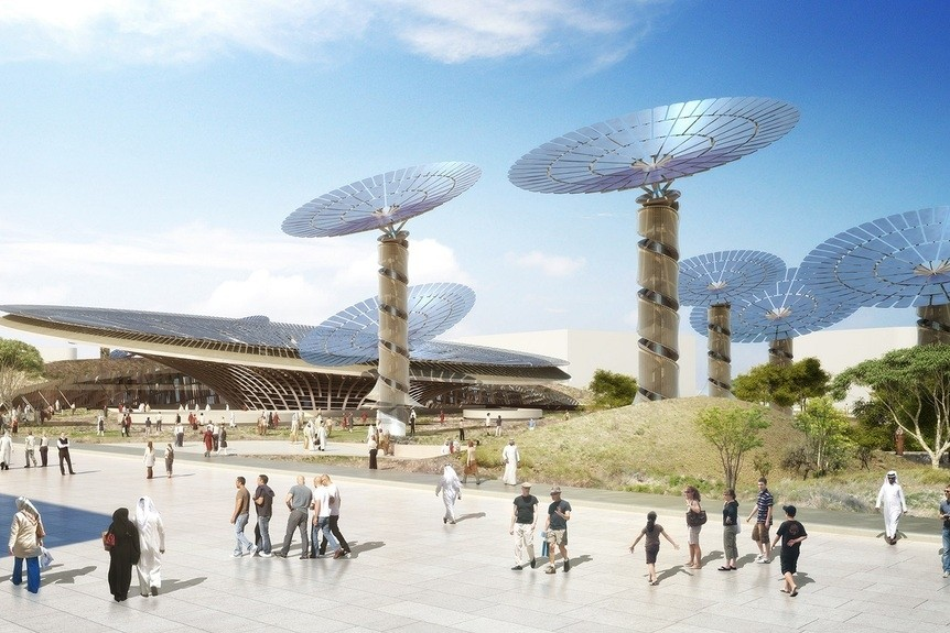 Grimshaw's Sustainability-themed pavilion. Courtesy Expo 2020