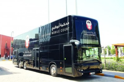 Abu Dhabi's AED 1.6 million Double Decker bus Mobile Court