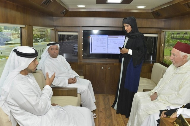 Sheikh Mansour bin Zayed, Deputy Prime Minister, inaugurated Abu Dhabi's first mobile courtroom during a ceremony at the Presidential Palace. Wam