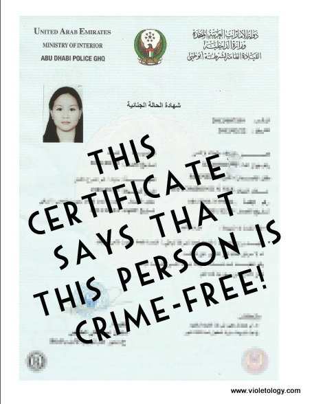 Uae resident alert how to get police clearance in dubai abu dhabi police clearance certificate uae altavistaventures Gallery