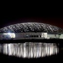 Louvre Abu Dhabi museum dome lights up