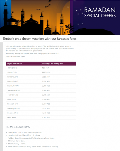 Ramadan - Eid Holiday Tour Packages