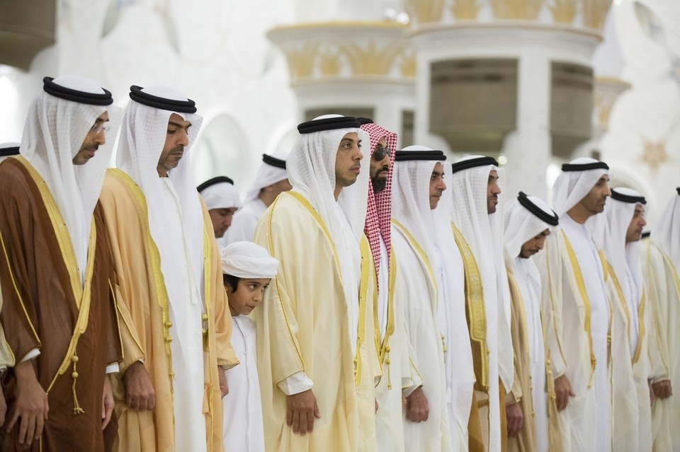 From left- Sheikh Diab bin Zayed Sheikh Hamed bin Zayed Chairman of the Crown Prince Court of Abu Dhabi and Abu Dhabi Executive Council Member Sheikh Mansour bin Zayed