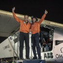Solar Impulse 2 lands in Abu Dhabi completing first zero-fuel flight around the world