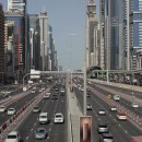 Cars on Sheikh Zayed Road