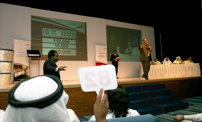 RTA Special Dubai Number Plates Auction