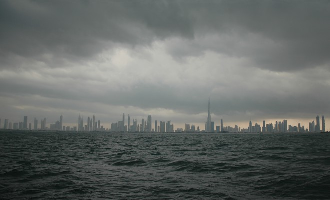 Cloudy Dubai Beach