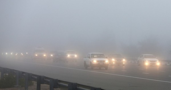 Driving in UAE fog