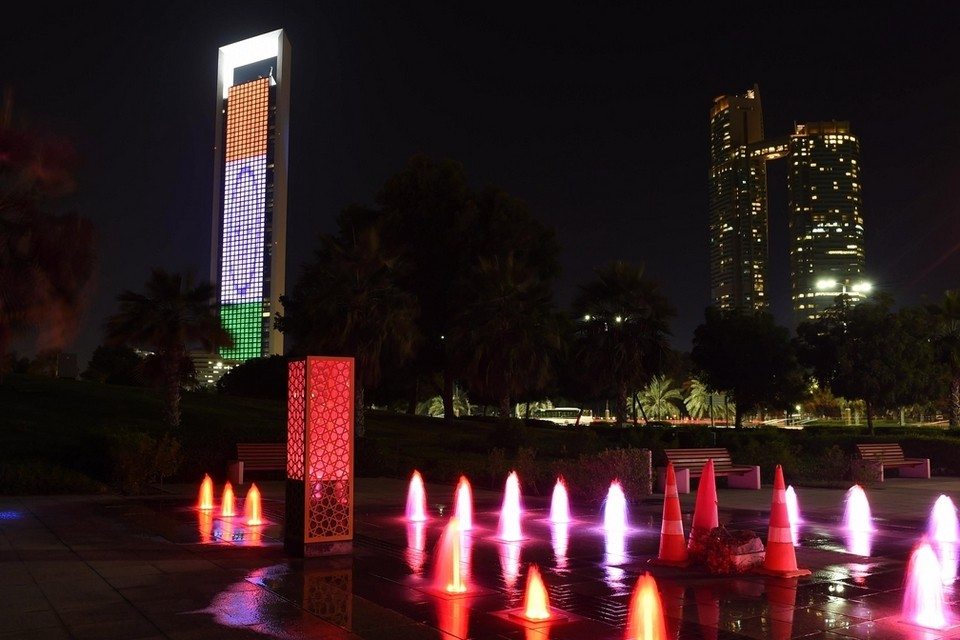 ADNOC Tower Indian Flag