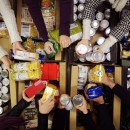 Collecting food for Food Bank