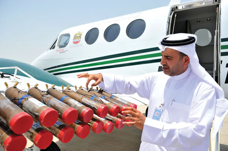 Cloud-Seeding Plane UAE