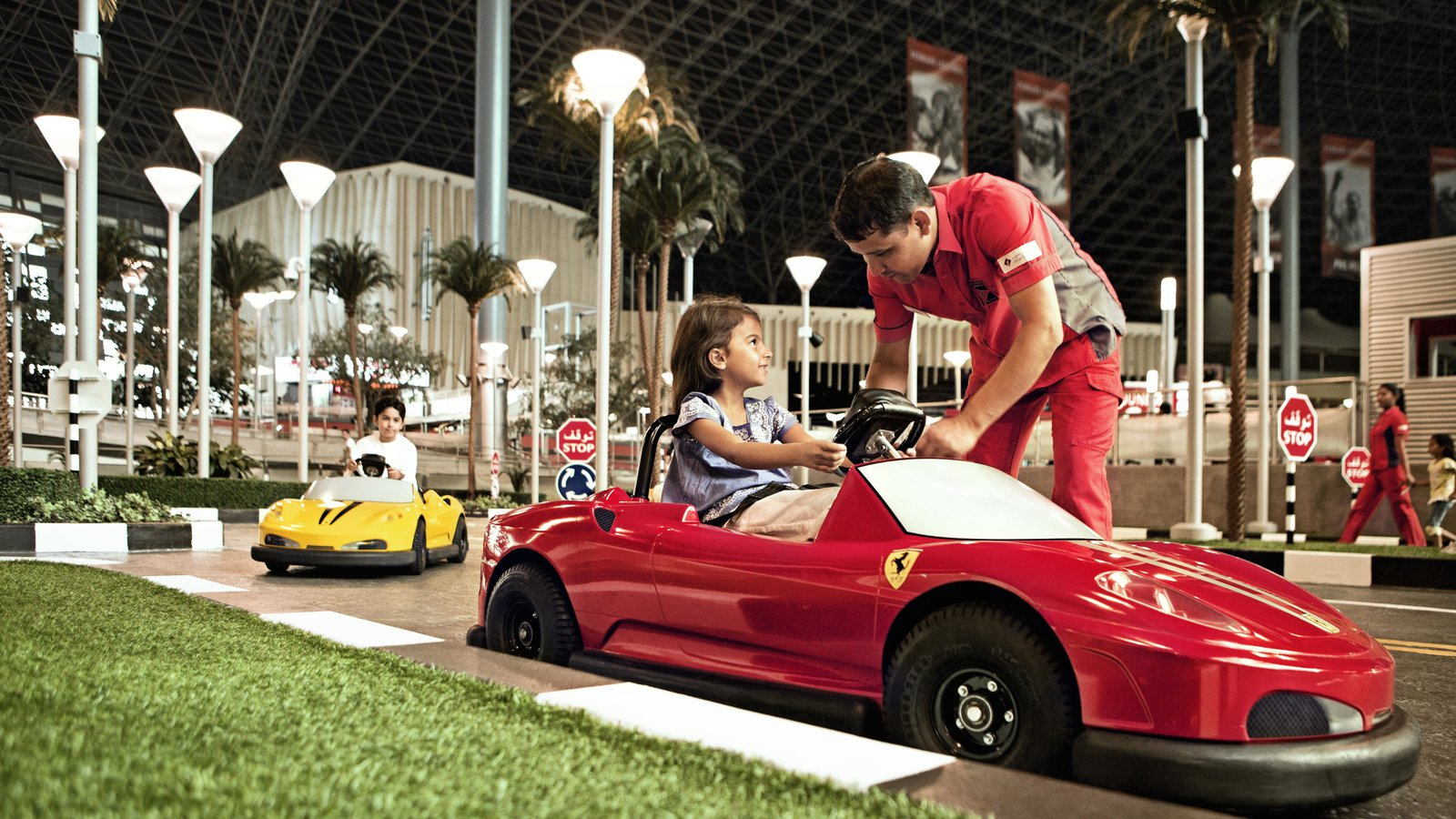 Kids at Ferrari World