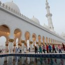 Prayer at Zayed Grand Mosque in Abu Dhabi