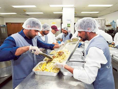 Excess Food Packed for UAE Food Bank