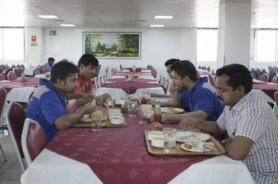 Mussafah Workers Eating