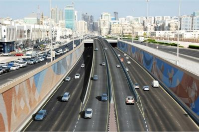 Sheikh Zayed Tunnel in Abu Dhabi
