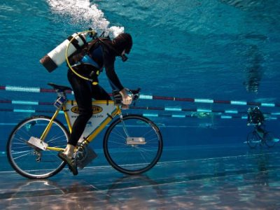 Underwater Bike Riding in Dubai