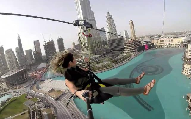 Zip Lining Timings and Features of Xline in Dubai