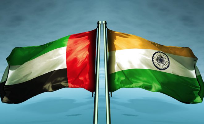 UAE and Indian Flag