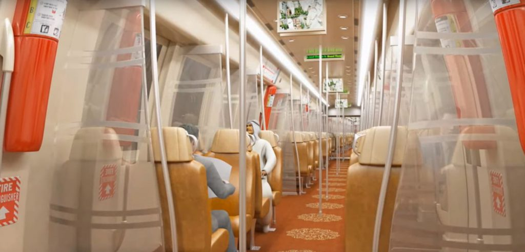 Abu Dhabi Metro - Inside the Train - First Class Coach