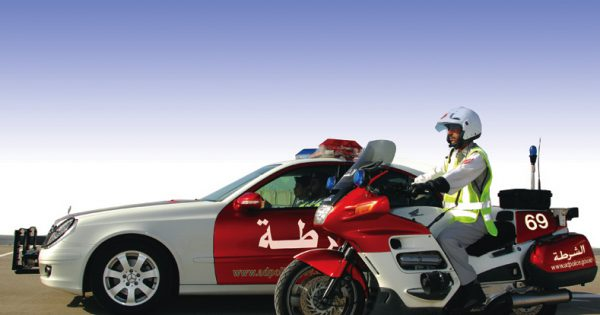 Abu Dhabi Traffic Police Vehicle