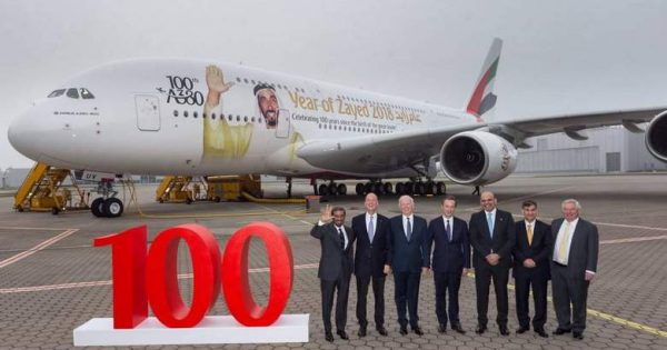 Emirates 100th A380
