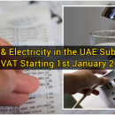 water and electricity will be taxed at 5% in UAE from 1st January 2017