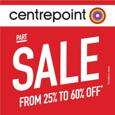 Centrepoint Offers AED 100 Off on AED 500 + AED 50 Off on AED 300, Expires on 26 May 2018