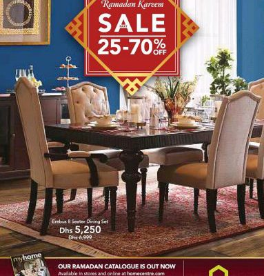 Home centre ramadan kareem sale 25 to 70 off on for Furniture 70 off