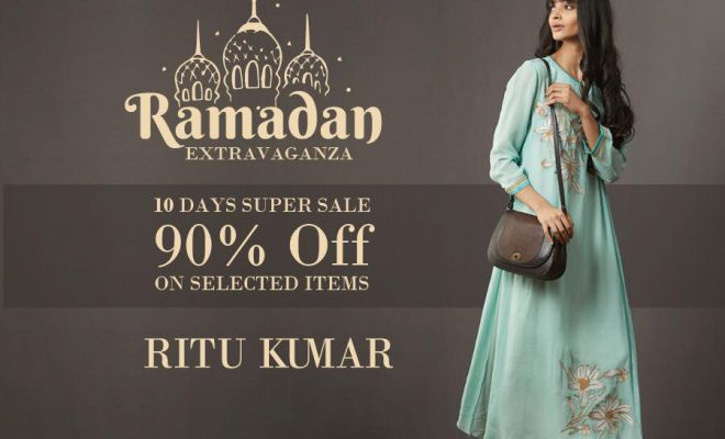Ritu Kumar 10 Days Super Sale 90% Off on Selected Items!! Valid Till 2 June 2018